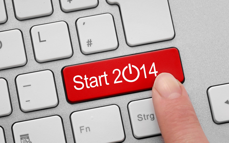 Новый Год 2014 - Растровый клипарт 2014 New Year - UHQ Stock Photo.